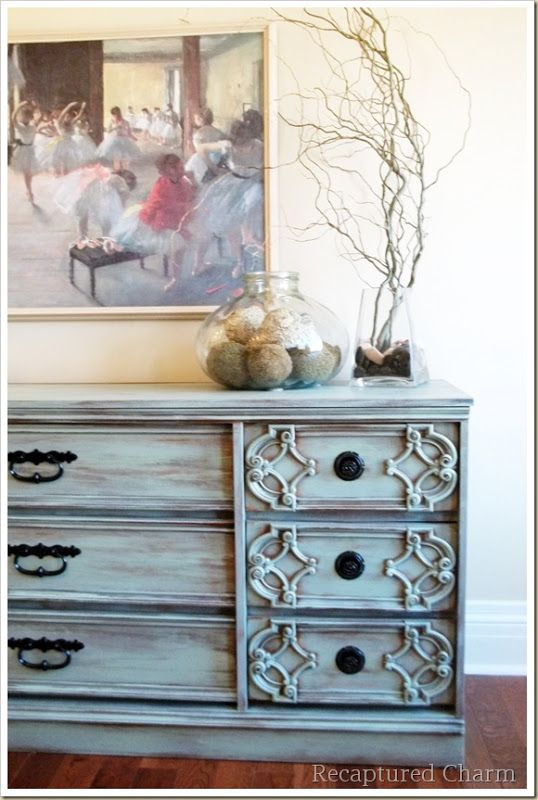 turquoise dresser /painted furniture diy color valspar favorite jade no primer, just long dry strokes so pretty