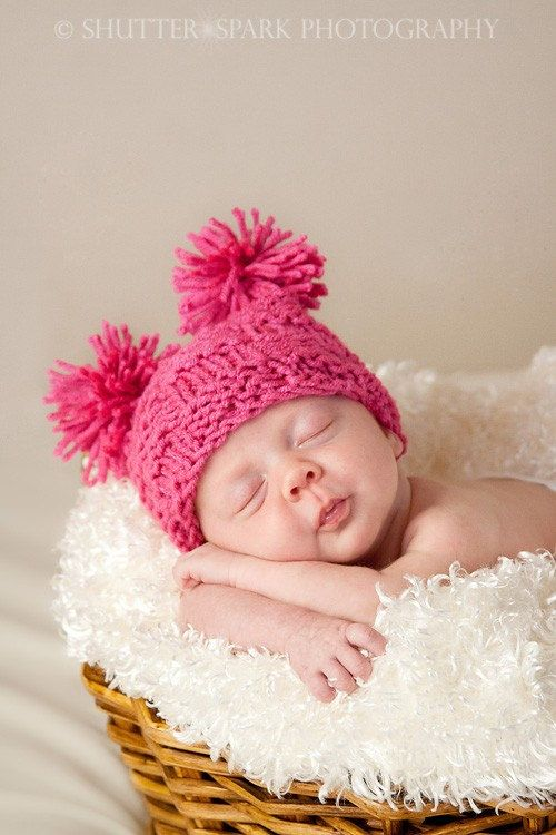 another picture of small pom pom hat this one is adorable on babies