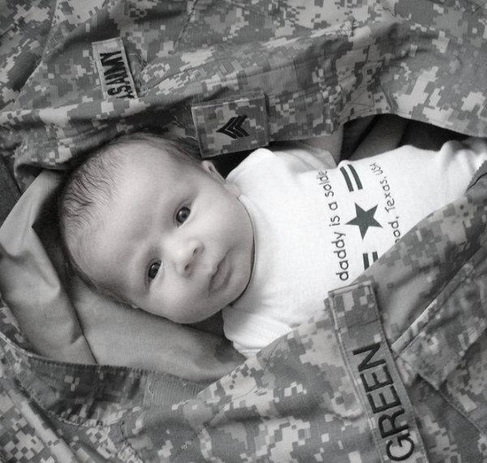 Baby picture idea...Little Soldier :)