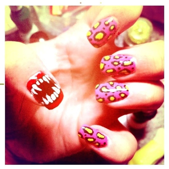 Nails by @karaelliott      Are your nails more styled than your outfit? Do you have more art on your fingertips than your walls? Is your stash of polish taking over every cupboard in your house? Sounds like you could have an Obsessive Fashion Disorder.     Email us a picture of your nail designs to mailto:OFD@asos.com or tweet us a pic with the hashtag #ASOSOFD and the coolest, craziest and most creative pics will be to be diagnosed with OFD will be posted on the ASOS Pinterest.