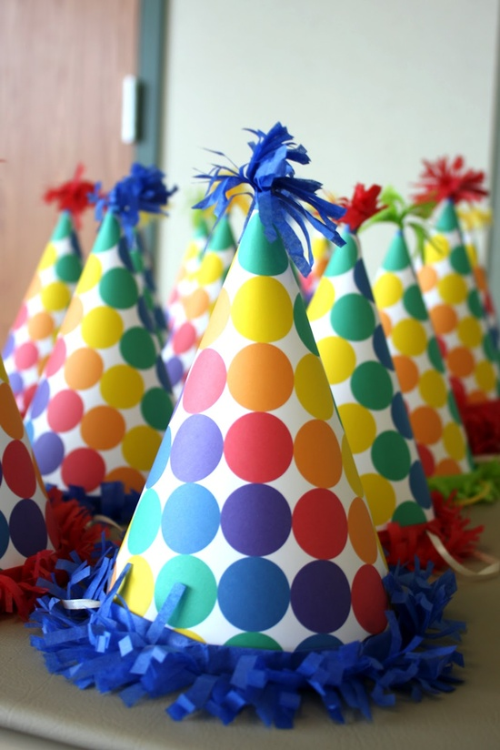 Candyland birthday party hats! #candyland #birthday #party #ideas #hats