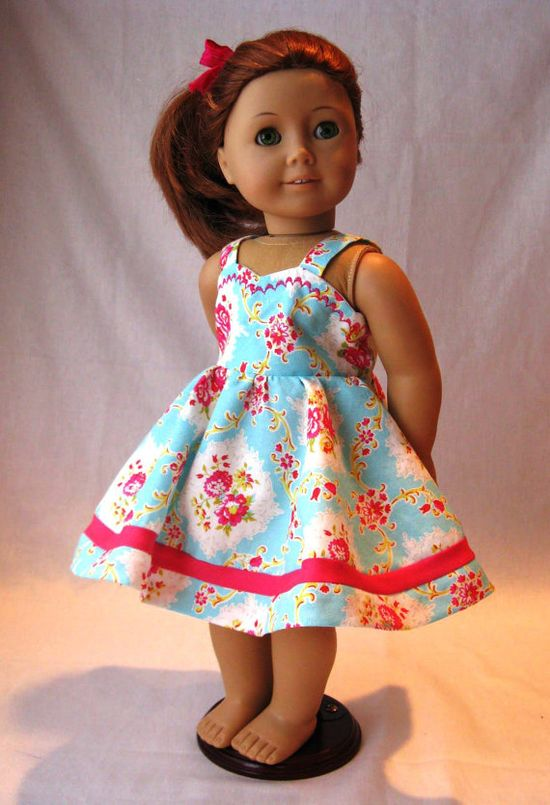 "American Girl 18"" Doll dress.  Love, love this fabric! Anyone know what it is?"