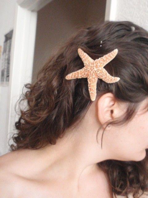 NATURAL SUGAR STARFISH hair pin star fish by itsashorething, $6.25
