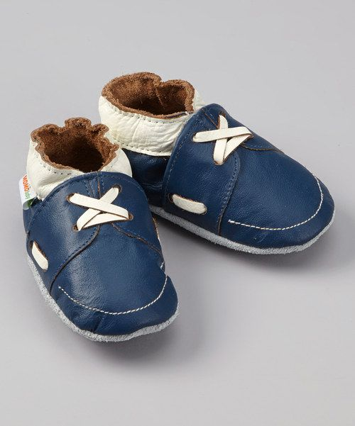 Leather baby boy shoes... blue