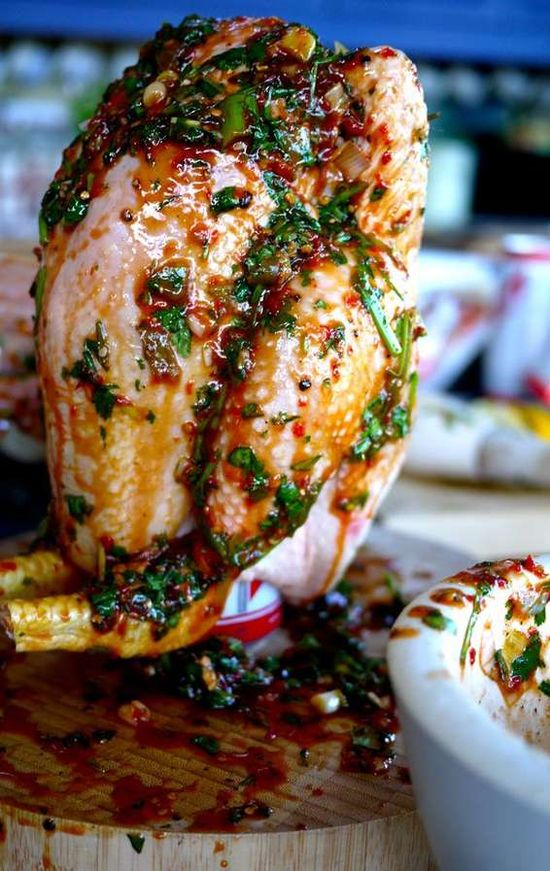 The Beercan Jerk Chicken is Mouthwatering and a Savoury Addition for Dinner #food trendhunter.com