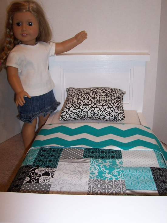 Reversible Chevron Bedding for American Girl by GiGisDollCreations, $12.99