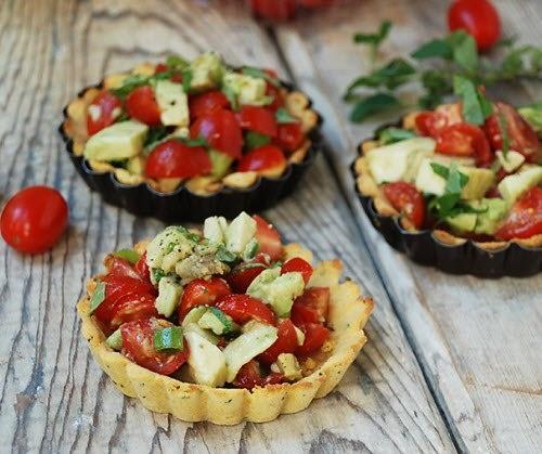 Tomato Avocado Tarts  @Multiply Delicious