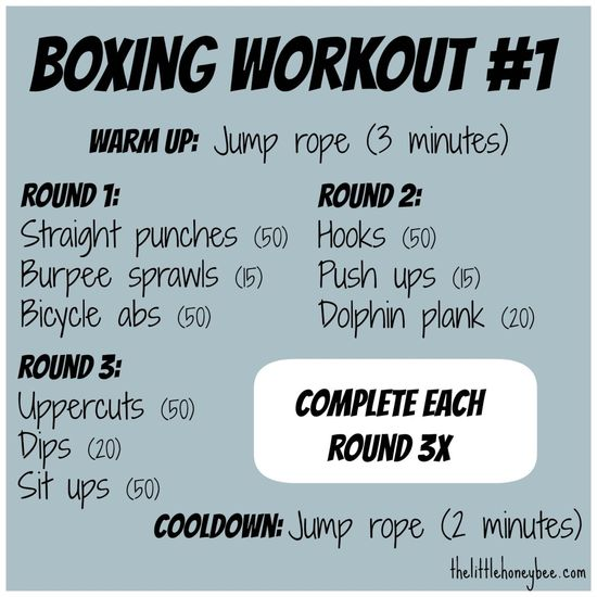 A cardio and strength at-home boxing workout!