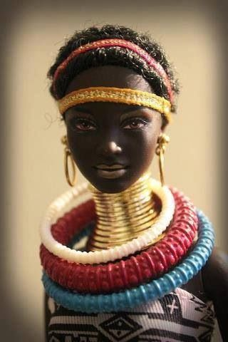 African Barbie - literally #kids #toys