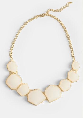 White Light Jeweled Necklace #threadsence #fashion