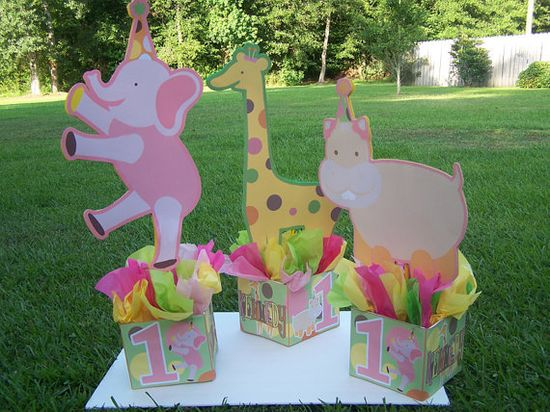 ZOO CIRCUS Birthday Party Centerpiece - 3 feet tall animals favors Mitzvah baby shower 1st birthday centerpieces