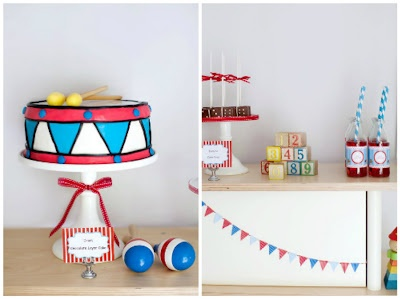 Circus Carnival party - love the cake