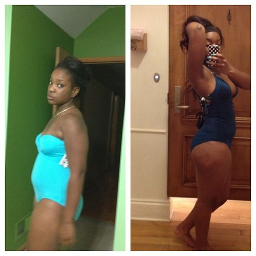 Two weeks of healthy eating and exercise and I'm leeway... -
