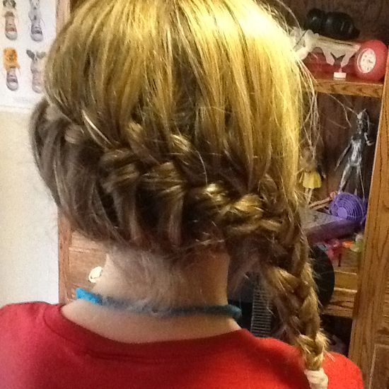 Side french braid.