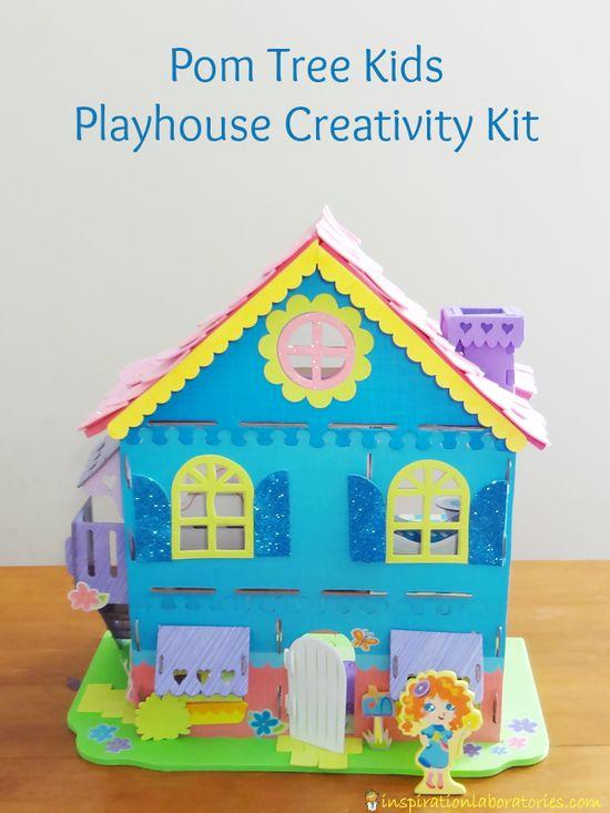 Pom Tree Kids Playhouse Creativity Kit #PomTreeKids - fun craft kits and playsets for kids