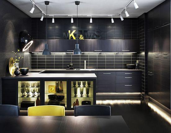 dark kitchen interior #ikea