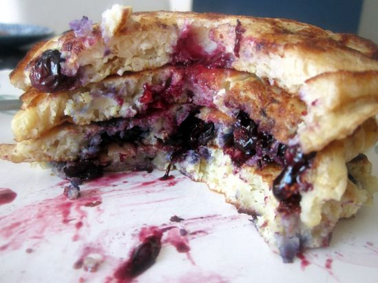 Lemon Blueberry Quinoa Pancakes.  These are the BEST pancakes EVER!!