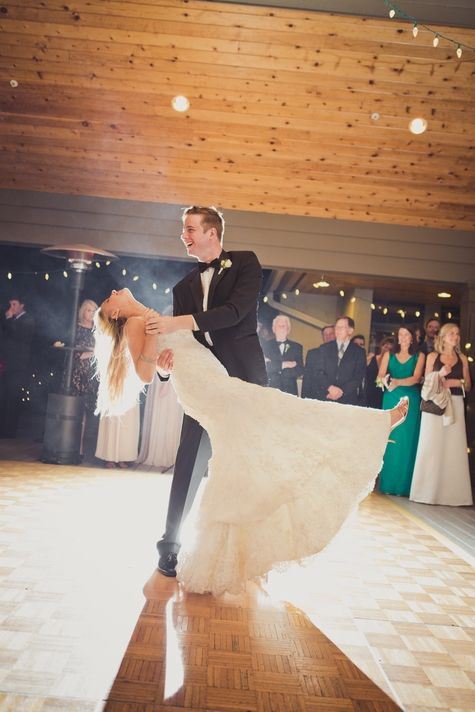 Bride & groom's first dance // Nathan English photography // www.theknot.com/...
