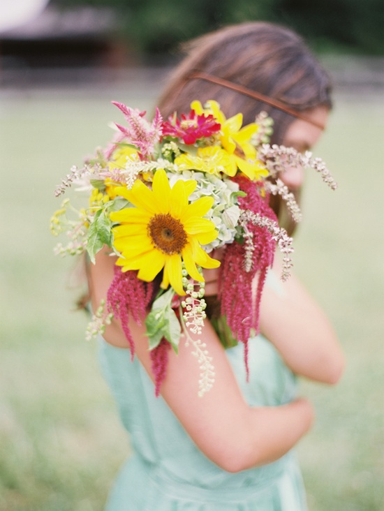 love this eclectic mix of colors for a summer bouquet // flowers by HollyChappleFlowe... // photo by AmeliaJohnson.net