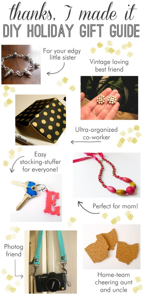 Thanks, I Made It: Do-It-Yourself Gift Guide Part 1