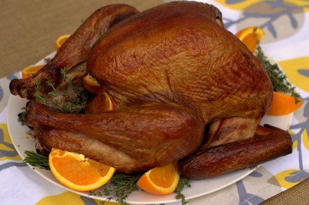 Slow-Smoked Maple & Bourbon Brined Turkey