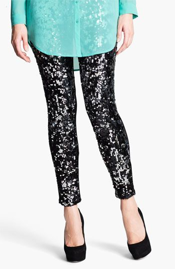 Nordstrom 'Shimmy' Sequin Leggings available at #Nordstrom