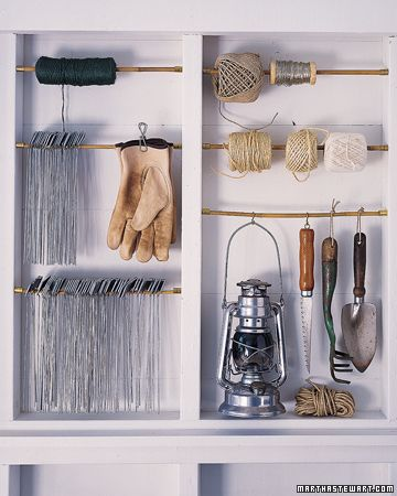 Really great for in between studs of garage, putting dowel rods. #organized #organization #garage #walls