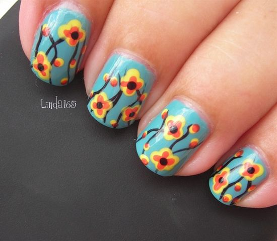 Vintage Fabric - Nail Art Gallery by NAILS Magazine
