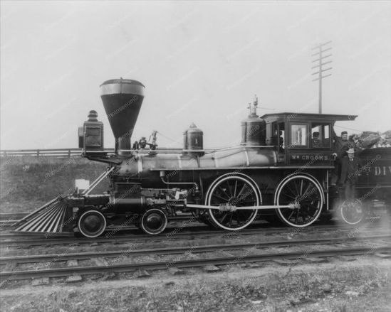 Railroad Train Engine Early 1900s