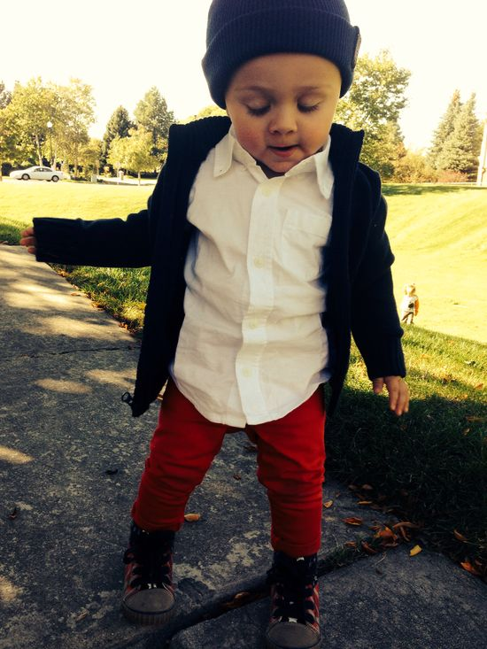 Baby boy hipster style