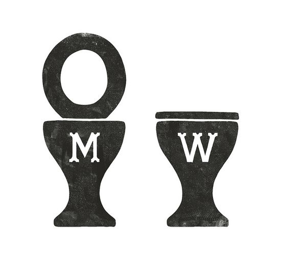 bathroom signs by simon walker.