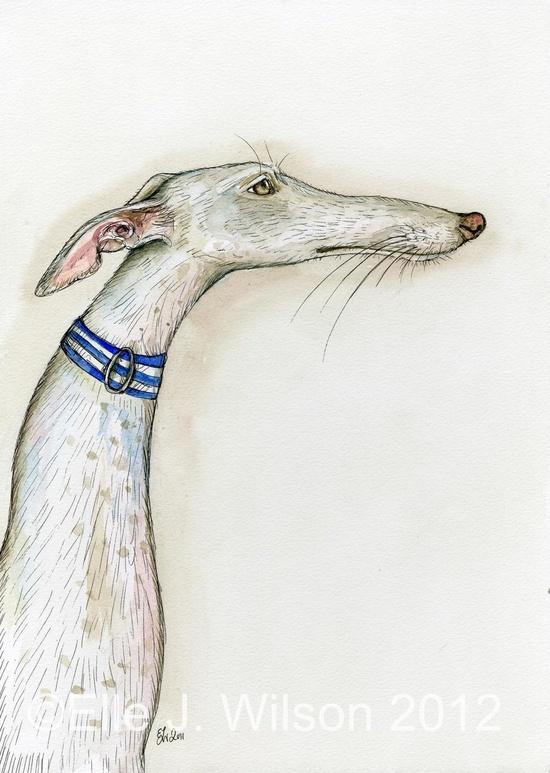 The Simple Truth - Greyhound Art Dog Print. £15.00, via Etsy.