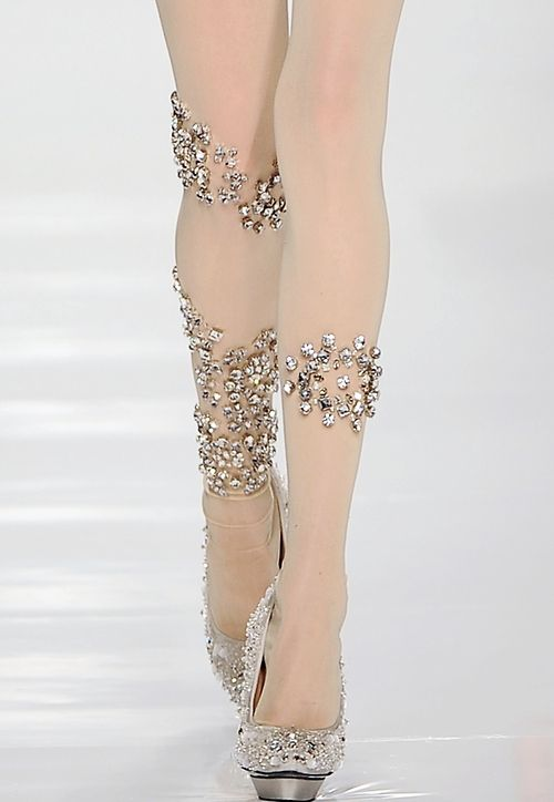 Bejeweled stockings