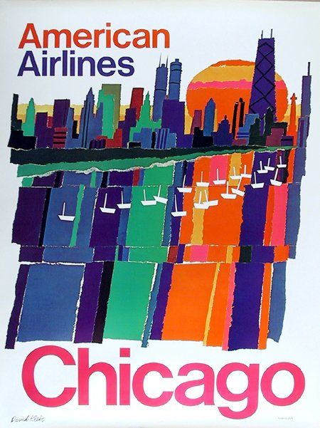 Chicago * American Airlines #travel #poster