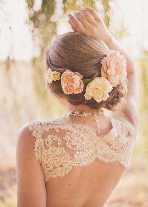 wedding hair style flower