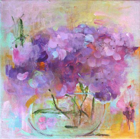 ? Hydrangea Original Abstract Painting