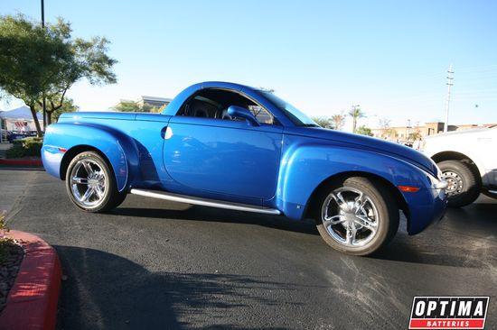 Blue Chevrolet SSR at Cars & Coffee Las Vegas