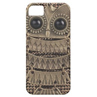 Cute Owl Bling Metal iPhone 5 Cases