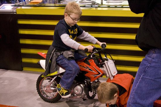 Kids can test drive too! - International Motorcycle Show 2013 - Charlotte