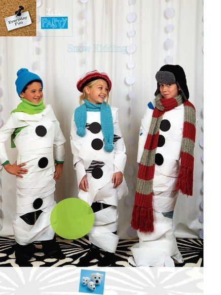 """toilet paper snowmen...christmas party game?!?needing ideas for a FUN Ugly Christmas Sweater Party check out """"The How to Party In An Ugly Christmas Sweater"""" at Amazon www.amazon.com/..."""
