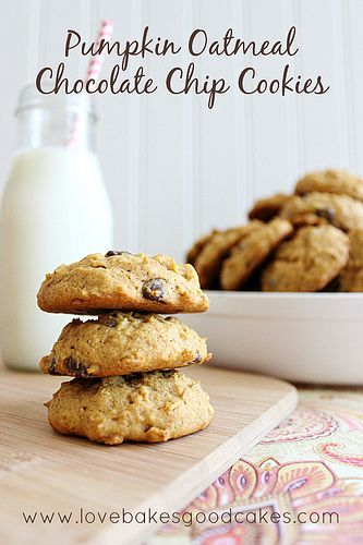 Pumpkin Oatmeal Chocolate Chip Cookies for OXO