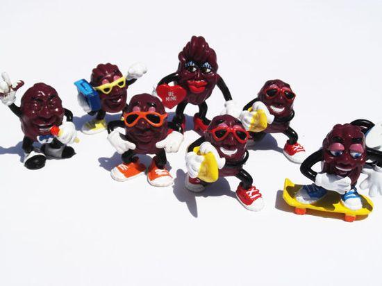 California Raisins PVC Figures Lot 1987 1988 1980s Trends 80s toys on Etsy, $14.99