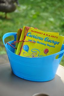 Curious George Books--Party favors that won't break as soon as kids get them home!