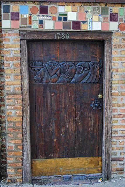 Nº3 Carved fabulous door ~ 1738 North Wells Street