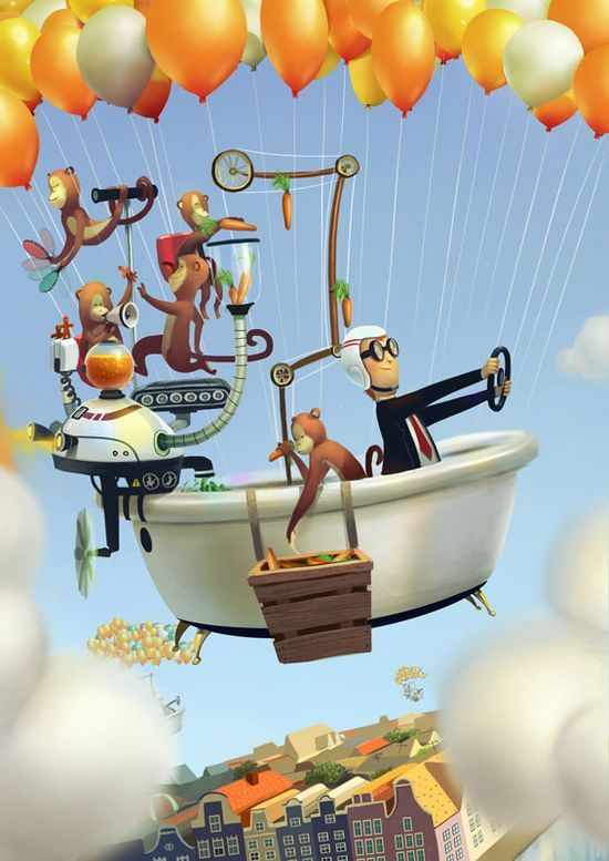 3D Characters Designs and illustrations by