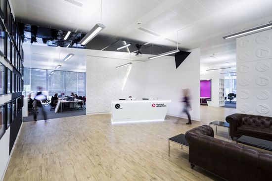 EMO and The Real Adventure offices by The Interiors Group, Bristol