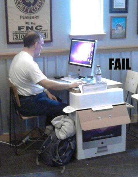 mobile computing #fail the funny thing is, this is exactly what my grandma does with her mac :D
