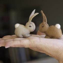 felt bunnies!