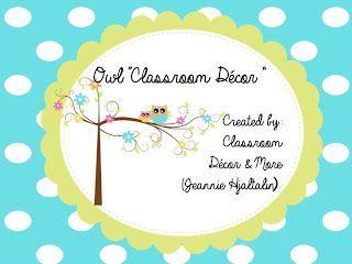 Classroom Decor &