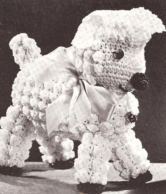 Baby Lamb Stuffed Animal Toy Vintage Crochet Pattern